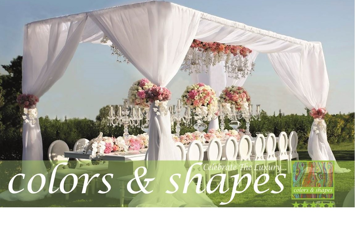colors and shapes wedding furniture and accessories